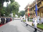 越南外交部在河内举行东盟旗升旗仪式