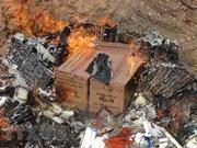 谅山省销毁总额为13亿越盾的假冒产品