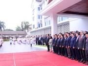 老挝隆重举行东盟旗升旗仪式庆祝东盟成立51周年