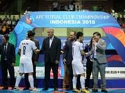 亚洲室内五人制足球俱乐部冠军联赛:越南队夺得亚军