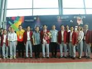 2018年亚洲运动会:越南体育代表团受到东道国的热情接待