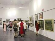 2018年第一地区绘画作品展在河内展出