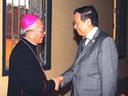 越南领导向天主教和福音教同胞庆祝圣诞节