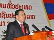 朱马里•赛雅颂同志连任老挝人民革命党总书记