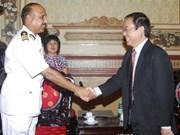 印度海警舰访问越南胡志明市