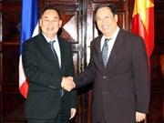 越南副总理兼外交部长范家谦与泰国外交部长进行会谈