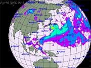 放射云有趋飘到东南亚地区