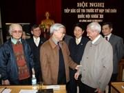 越共中央总书记兼国会主席阮富仲会见河内选民