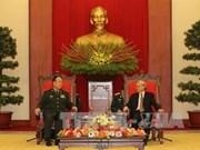 越南领导会见中共中央军委代表团