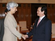 政府总理阮晋勇接见国际客人