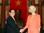 国家主席阮明哲会见澳洲总督昆廷•布莱斯女士