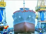 越南举行1.46万吨级水泥专运船下水仪式