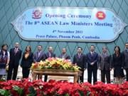 第8次东盟司法部长会议在柬埔寨举行