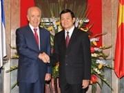 越南国家主席张晋创与以色列总统举行会谈