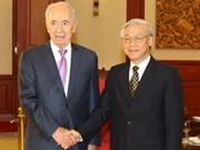 越共中央总书记会见以色列总统