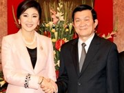 越南国家主席张晋创会见泰国总理英拉·西那瓦