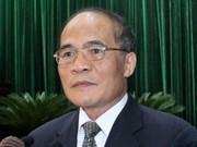 越南国会主席阮生雄开始访问欧洲二国和欧洲议会