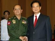 越南与缅甸继续巩固两国传统友谊及全面合作关系