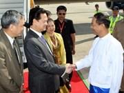 政府总理阮晋勇开始对缅甸进行正式访问