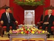 越南党和国会领导会见中国副主席习近平