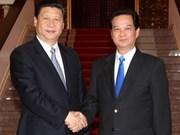 政府总理阮晋勇会见中国副主席习近平