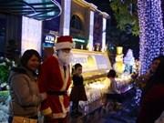 圣诞节气氛笼罩着越南全国各地