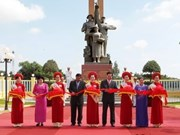 越柬友谊的象征--125兵团旧址历史遗迹区落成典礼