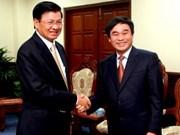 越南与老挝外交部加强合作