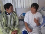 韩渔船《正宇 2 》事故中受伤越南船员康复回国