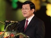 越南国家主席张晋创对老挝进行正式友好访问