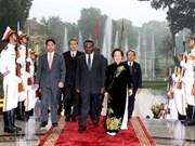 越南同安哥拉加强双方友好合作关系