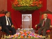 越共中央总书记阮富仲会见多米尼加统一左翼运动党