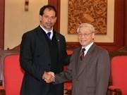 越共中央总书记会见智利参议院议长