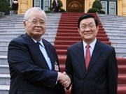 越南国家主席张晋创会见国际客人
