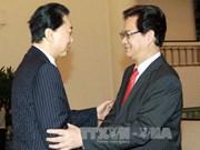 越南政府总理会见日本内阁前首相