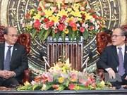 越南国会主席阮生雄会见缅甸总统吴登盛