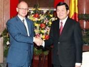 越南国家主席会见俄罗斯联邦国家原子能集团公司总经理