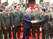阮富仲总书记视察越南人民公安力量建设总局