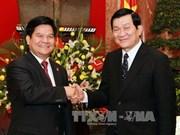 越南国家主席张晋创会见中国云南省省长李纪恒