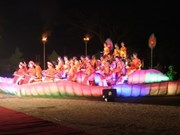 顺化皇宫之夜吸引诸多国内外游客参加