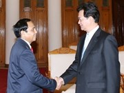 越南政府总理阮晋勇会见老挝人民革命党中央纪委主任
