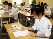 越南全国近100万名学生参加2012年高中毕业考试