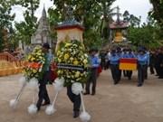 56具越南志愿军和专家烈士遗骸迁回祖国安葬
