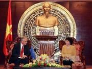 越南国会副主席阮氏金银会见美国投资商代表团