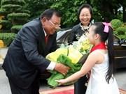 老挝国家副主席对越南进行正式访问