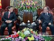 越南国会主席阮生雄会见老挝副主席本扬•沃拉吉