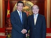 越南国会主席阮生雄会见韩国锦湖韩亚集团总裁