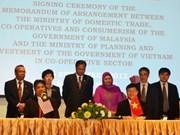 越南与马来西亚签署发展合作社的合作备忘录