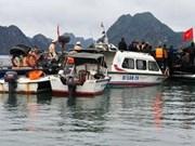 越南职能机构起诉下龙湾海上意外交通事故案