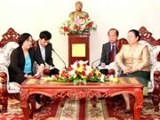 越南劳动荣军与社会部高级代表团访问老挝